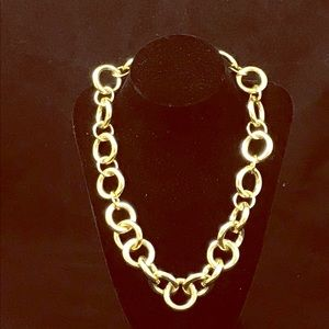 J Crew Chunky Gold Chain Choker Necklace